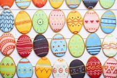 Fondo delicioso de las galletas de Pascua Imagen de archivo libre de regalías