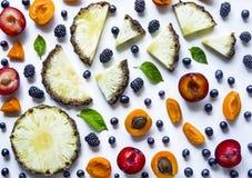 Fondo delizioso della bacca e della frutta Fotografia Stock