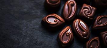 Fondo delizioso delle caramelle di cioccolato Assortimento di delizioso Fotografia Stock Libera da Diritti