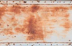 Fondo dell'acciaio della ruggine Fotografie Stock Libere da Diritti