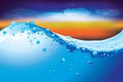 Fondo dell'acqua Fotografia Stock Libera da Diritti
