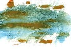 Fondo dell'acquerello dell'estratto di Oxley Immagine Stock Libera da Diritti