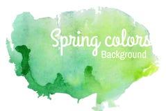 Fondo dell'acquerello della primavera Immagine Stock