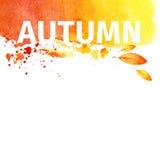 Fondo dell'acquerello di lerciume di autunno royalty illustrazione gratis