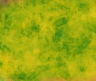 Fondo dell'acquerello di verde e di giallo colorato fotografie stock