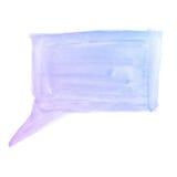 Fondo dell'acquerello. lampadina di conversazione porpora blu variopinta di colore di acqua Fotografie Stock