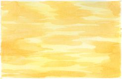 Fondo dell'acquerello per le strutture Priorità bassa astratta dell'acquerello yellow illustrazione vettoriale