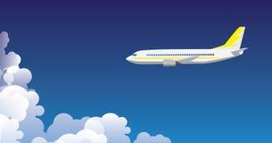 Fondo dell'aeroplano Fotografia Stock Libera da Diritti