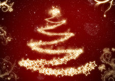 Fondo dell'albero di Natale Fotografia Stock