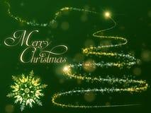 Fondo dell'albero di Natale Immagini Stock