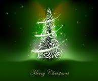 Fondo dell'albero di Natale Fotografie Stock