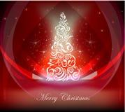Fondo dell'albero di Natale Fotografie Stock Libere da Diritti