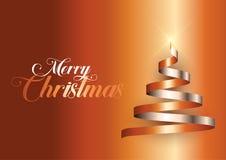 Fondo dell'albero di Natale del nastro illustrazione di stock