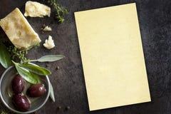 Fondo dell'alimento con copyspace Fotografia Stock