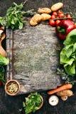 Fondo dell'alimento con le verdure Fotografia Stock Libera da Diritti