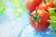 Fondo dell'alimento del pomodoro Fotografie Stock Libere da Diritti