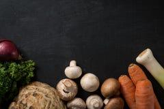 Fondo dell'alimento della verdura fresca Fotografie Stock