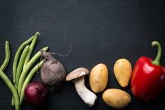 Fondo dell'alimento della verdura fresca Fotografie Stock Libere da Diritti