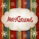 Fondo dell'annata di Natale Immagini Stock