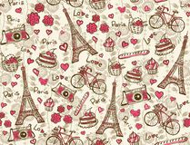 Fondo dell'annata di Parigi illustrazione di stock