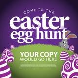 Fondo dell'annuncio di caccia dell'uovo di Pasqua illustrazione di stock