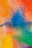 Fondo dell'arcobaleno dell'acquerello Fotografia Stock Libera da Diritti