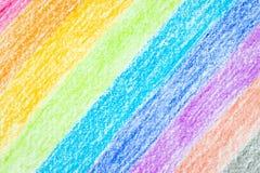 Fondo dell'arcobaleno di colore della matita Fotografie Stock Libere da Diritti