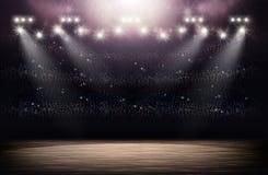 Fondo dell'arena di pallacanestro Immagine Stock Libera da Diritti