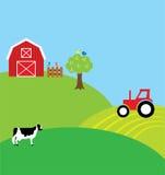 Fondo dell'azienda agricola Fotografia Stock Libera da Diritti