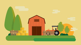 Fondo dell'azienda agricola Fotografie Stock Libere da Diritti