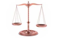 fondo dell'equilibrio 3D o della scala per la misura Immagine Stock Libera da Diritti