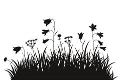 Fondo dell'erba dell'illustrazione di vettore fotografia stock libera da diritti
