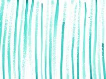 Fondo dell'estratto dell'acquerello con le linee del turchese illustrazione di stock