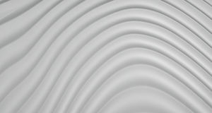 fondo dell'estratto 3D di Grey White Curve Lines, illustrazione Fotografia Stock