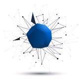 fondo dell'estratto del dodecahedron 3d Immagini Stock