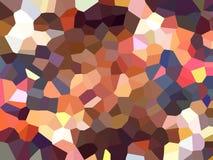 Fondo dell'estratto del filtro da effetto di pixelation del triangolo Fotografia Stock