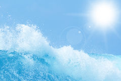 Fondo dell'estratto dell'acqua dell'oceano Immagine Stock Libera da Diritti