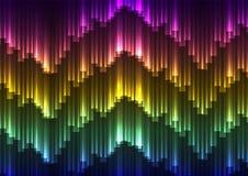 Fondo dell'estratto dell'aurora di Digital illustrazione di stock