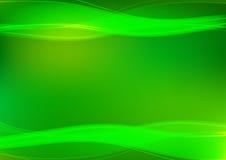 Fondo dell'estratto dell'onda di luce verde; fondo del computer; fondo di presentazione; fondo di web Fotografia Stock