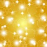Fondo dell'estratto dell'oro di Natale Fotografia Stock