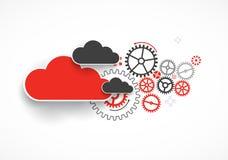 Fondo dell'estratto di affari di tecnologia della nuvola di web royalty illustrazione gratis