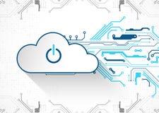 Fondo dell'estratto di affari di tecnologia della nuvola di web Vettore illustrazione di stock