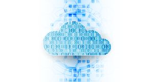 Fondo dell'estratto di affari di tecnologia della nuvola di web Vettore royalty illustrazione gratis