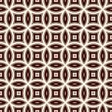 Fondo dell'estratto di Brown con i cerchi di sovrapposizione Motivo dei petali Modello senza cuciture con l'ornamento geometrico  royalty illustrazione gratis