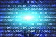 Fondo dell'estratto di codice binario Comunicazione di Internet di tecnologia e dati moderni della rete nel concetto del Cyberspa Fotografie Stock Libere da Diritti