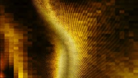 Fondo dell'estratto di colore dell'oro di Wave Immagine Stock
