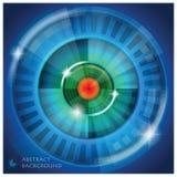 Fondo dell'estratto di forma dell'occhio Fotografie Stock