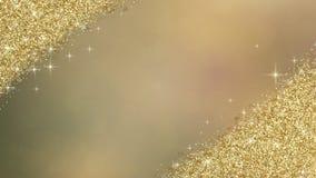 Fondo dell'estratto di scintillio dell'oro Fotografie Stock