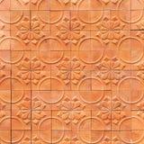 Fondo dell'estratto di terracotta della parete di Brown Fotografia Stock