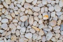 Fondo dell'estratto di vista superiore con roccia e le pietre rotonde del ciottolo Fotografia Stock Libera da Diritti